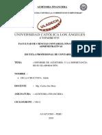 Informe de Auditoría y La Importancia de Su Elaboración.