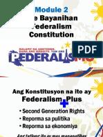 Module 2 - The Bayanihan Federalism Constitution FINAL