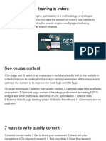 IICE-SEO course  training in indore.