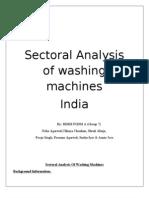 Sectoral Analysis of Washing MAchines