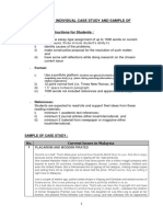 Instruction of Individual Case Study and Sample of Case Study