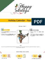 Holidays Calender Sample Copy