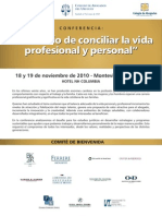 Programa Conferencia El Desafío de Conciliar la vida profesional y personal