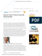 Homeopathic Medicines for Hoarse Voice - Homeopathy Treatment