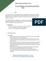 Method Statement for Interlock Pavers.docx