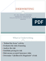 Underwriting  for MBA students for Insurance and Risk Management