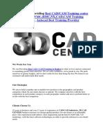 3d Cad Center Providing Best CAD/CAM Training In Rajkot
