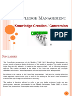 Lecture 4 - Coversion of knowledge (2019) @ Middle East College