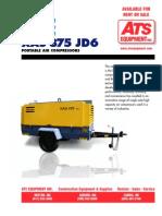 Compresor Atlas Copco XAS 375 CFM