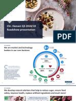 Chr Hansen Q3 Roadshow presentation 201819.pdf