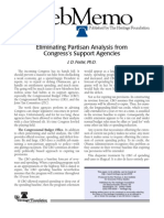 Eliminating Partisan Analysis from Congress's Support Agencies