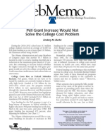 Pell Grant Increase Would Not Solve the College Cost Problem