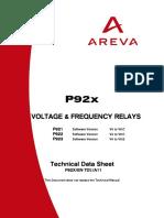 AREVA P92X MANUAL
