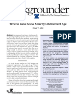 Time to Raise the Social Security Retirement Age