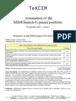 MIMOmatch-G patent portfolio
