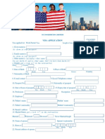 US Visa Permit Application Form