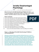 Essay on Socially Disadvantaged Children.docx