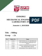 Lab 1- Milling