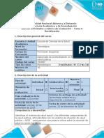 Guía de Actividades y Rúbrica de Evaluación – Tarea 6 - Socialización