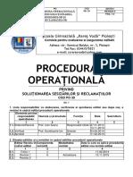 Procedura Sesizări Și Reclamații