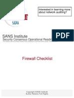 FirewallChecklist