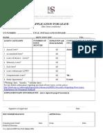 Application Form for Leave