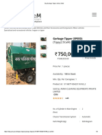 Specification Of Mini Tipper