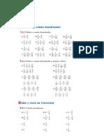 Matematicas Resueltos (Soluciones) Operaciones con Fracciones 1º ESO