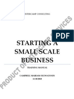 Starting a Small Scale Business