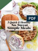 5 Quick Simple Meals Foodiecrush.com