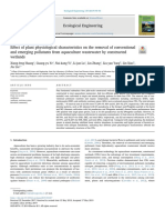 Effect of plant physiological characteristics on the removal of conventionaland emerging pollutants from aquaculture wastewater by constructedwetlands.pdf