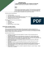 3 Resume Types
