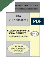 SLM-III Sem BBA Human Resource Management
