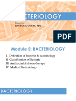 5) General Bacteriology