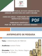 APRESENTAÇÃO ANTEPROJETO DE TCC ANDREIA.pptx