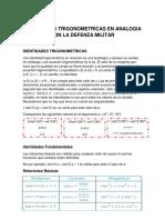 Identidades Trigonometricas en Analogia Con La Defenza Militar