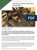 _Aimons La France Comme Elle Nous a Aimés_, l'Amitié Franco-serbe Forgée Durant La Grande Guerre - France 24