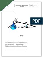 Programa de Prev de Riesgos- Crimacin 2019