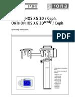 Orthophos XG 3D Manual