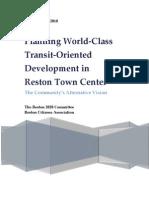 Reston Town Center Alternative Vision Report--Final