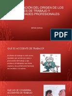 Identificación del origen de los accidentes de trabajo