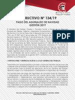 Instructivo 134 de Pago de Aguinaldo 2019