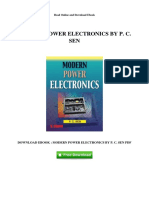 Modern Power Electronics by p c Sen