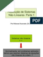 Aula Sistemas Nao Lineares