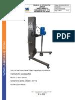 Manual Homogenizador Asq - Ax39pm1800