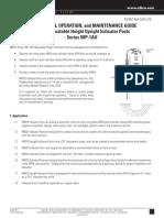 NIP 1AU Upright Indicator Post OM