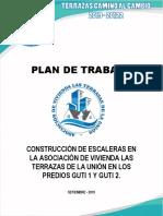 Plan de Trabajo Construccion de Escaleras de Guti 1 y Guti 2 de La Agrupacion Terrazas Camino Al Cambio