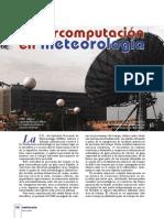 La Suerpcomputacion en Meteorologia