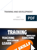 TRAINING AND DEVELOPMENT UNIT I.pptx