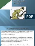 LA EXPLORACION INICIAL..ESPECIALIZACION EN PS. CLINICA.pptx